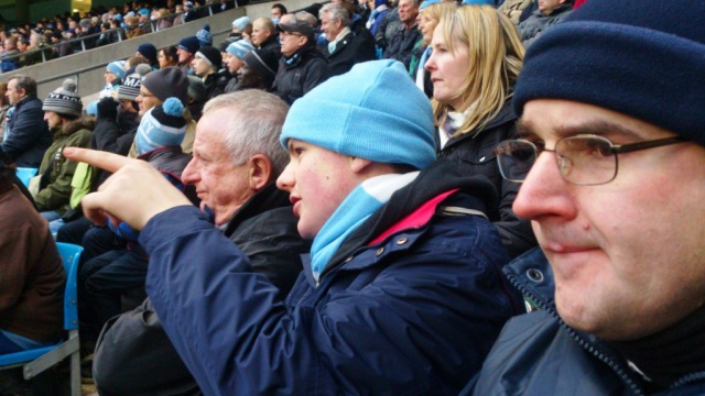 My men! Phil, Ethan and Kevin engrossed in the match