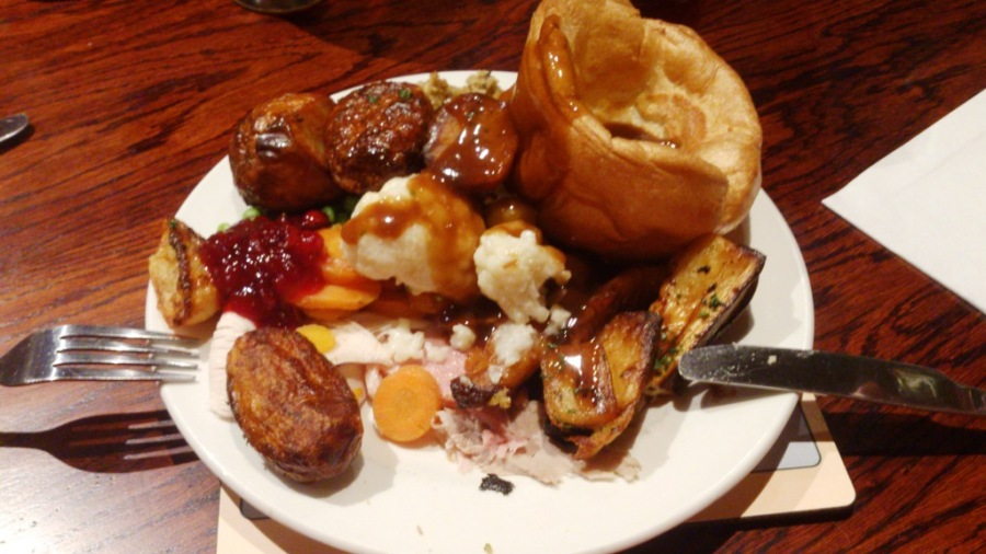 Post match feed at the Toby carvery