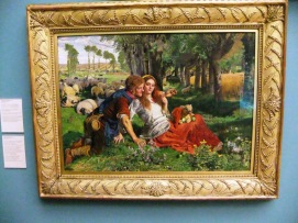 The Hireling Shepherd - a beautiful painting with a thinly veiled attack on the Church of England at the time