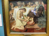 Jesus Washeth Peter's Feet - an act of service that Christians around the world reenact on Maundy Thursday each year