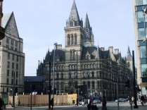 Manchester Town Hall as seen from the rear.
