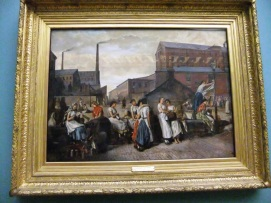 The Dinner Hour, Wigan. Reminds me of an LS Lowry painting that would come about 100 years later