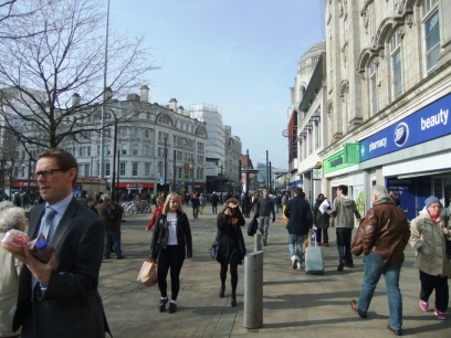 A view of Market Street from Piccadilly