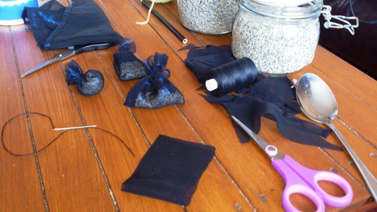 Lavender bags in the making. Smell is divine!!