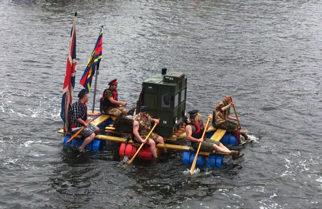 army team on a raft 1