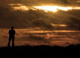 man at dawn