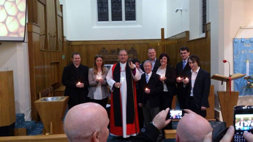 The Bishop of Manchester and the Confirmation candidates this evening. My hubby is in this group - I'm so proud for him to be a confirmed Christian. Well done Kevin! Shine your light bright xx