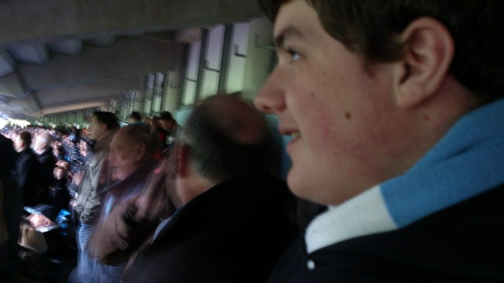 Me and my boy at the Man City match