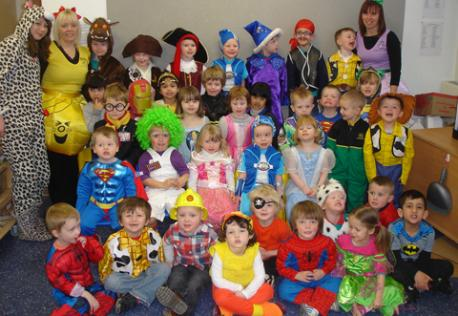 world book day class photo