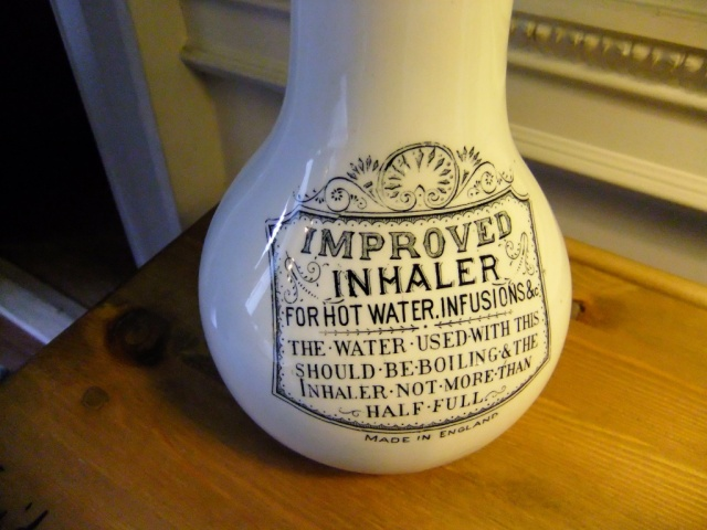 Detail from the inhaling bottle.