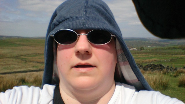 Here's me taking a selfie and rocking the Lawrence of Arabia look with my hoodie round my head. It was a bit hot!! (You can probably see my red face here too. I though this was because of the exertion but as of bedtime tonight I can attest to it being  most definitely sunburn).