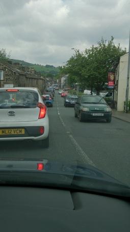 Traffic jam in Mytholmroyd