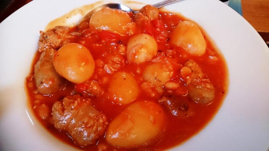Nice portion of sausage casserole....delish!!