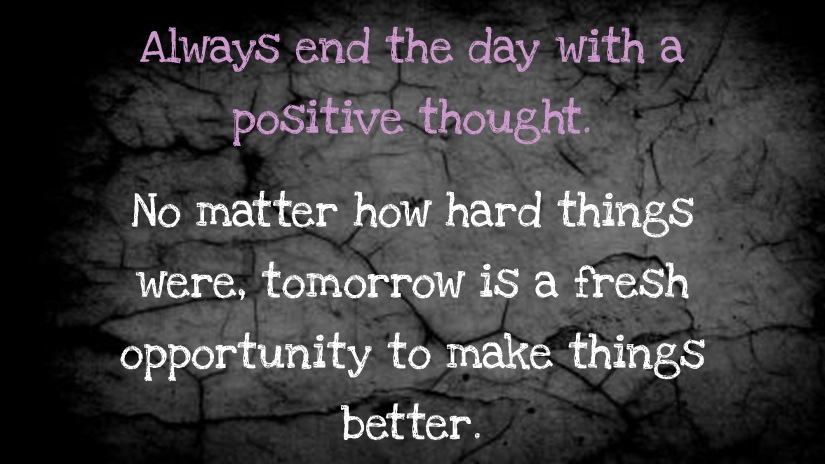 positive thought wall
