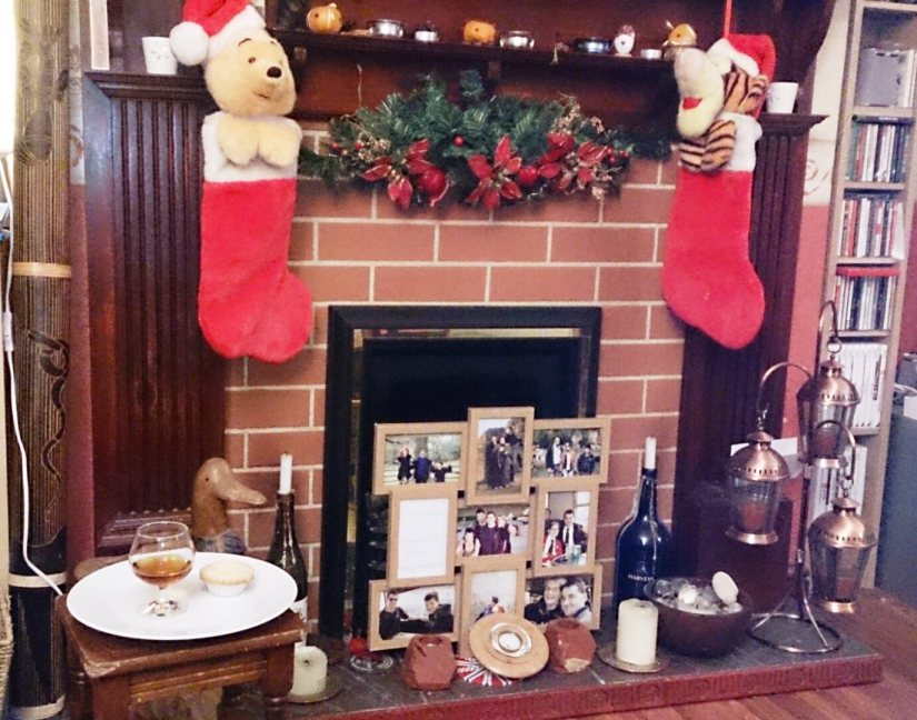 Christmas 2014 - even though the kids are 21 and 16 their childhood stockings are still up, and there is still a glass of brandy and a mince pie out for Father Christmas. It's nice to know some traditions still live on even though they are all grown up now!