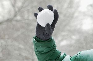gloves to throw snow