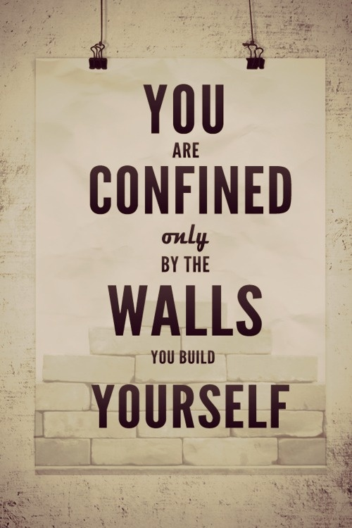 you are confined