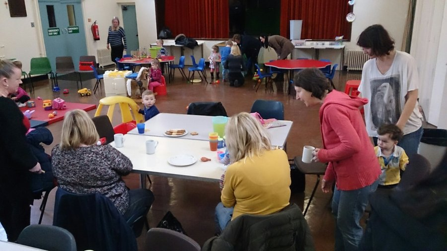 This was Stay and Play this morning just after we opened the doors. It was a hugely successful morning today with over 30 toddlers enjoying their time together - even though it did include me doing some singing with them at the end!