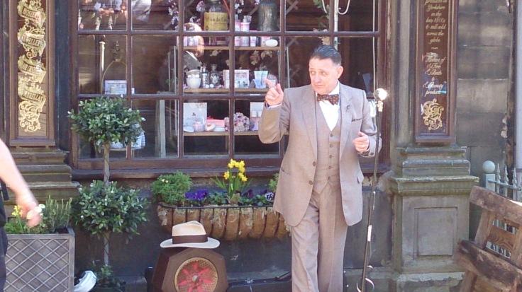Paul Harper performing in Haworth today