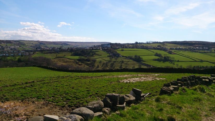 Looking back towards Haworth from the other side of the valley