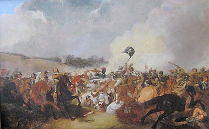 Painting of the Battle of Naseby in the first English Civil War