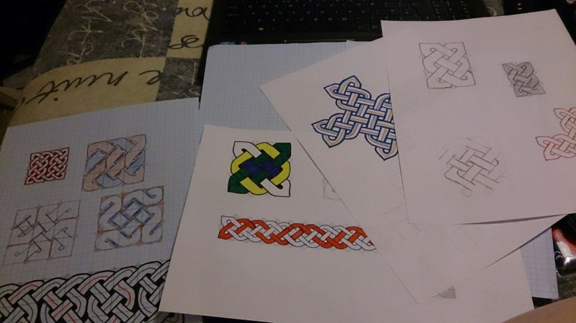 Early attempts at Celtic knotwork