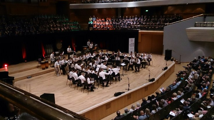 The Greater Manchester Hub Youth Brass Band at the Bridgewater Hall on Sunday 21st June