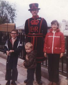 Alan, John and me on a day trip to London (I'm probably about 10 years old)