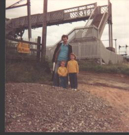 With my Dad and brother Alan at Dinting to watch the steam trains. I'm guessing my Mum was at home with our new baby brother that day