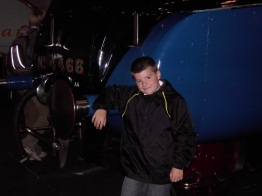 With the Mallard, York Railway Museum