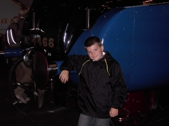 With the Mallard, York Railway Museum