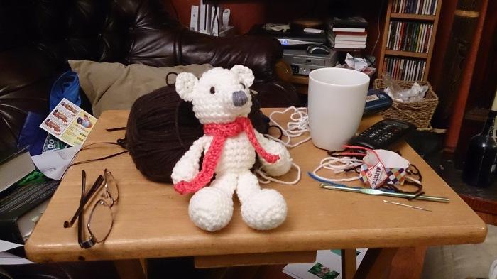 Prayer Bear for my friend Hils