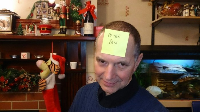 "My Dad last Christmas playing the ""who am I"" game"
