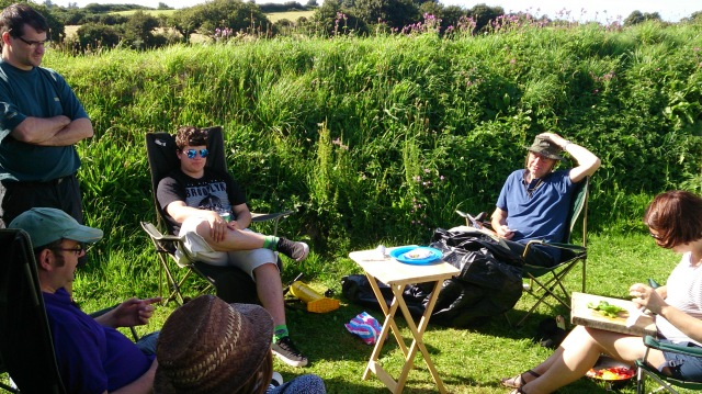 Family time camping in Wales