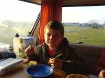 Ethan in the van