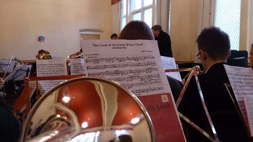 View from the PamCam: it's rehearsal o'clock