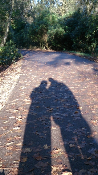 Kevin and me on our walk today
