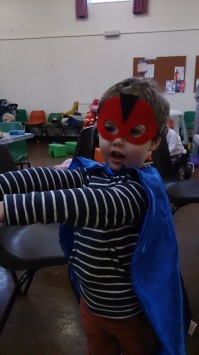 ... and then this little fella dressed in his superhero costume to save the day.